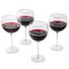 Set of 4 Personalized Red Wine Glasses