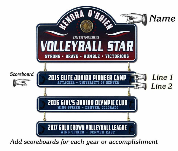 Volleyball Star - Living Sign