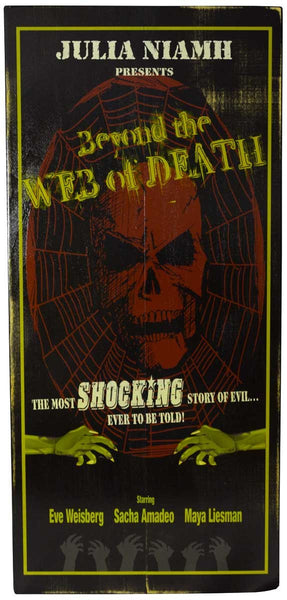Web Of Death - Vintage Plank Signs