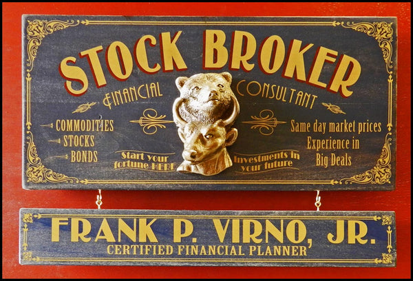 Stock Broker - Occupational Plank Signs