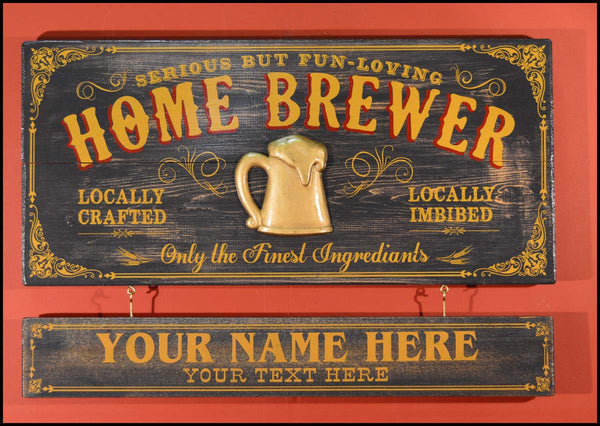 Home Brewer - Occupational Plank Signs