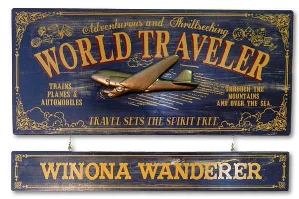 World Traveler - Occupational Plank Signs