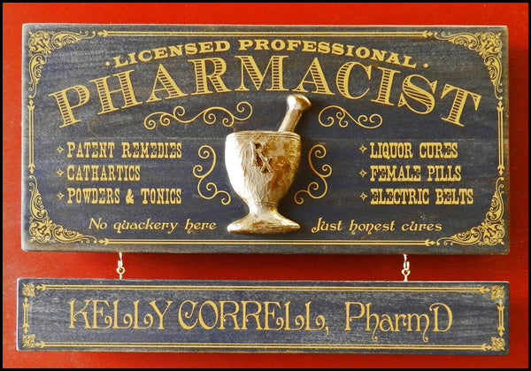 Pharmacist - Occupational Plank Signs