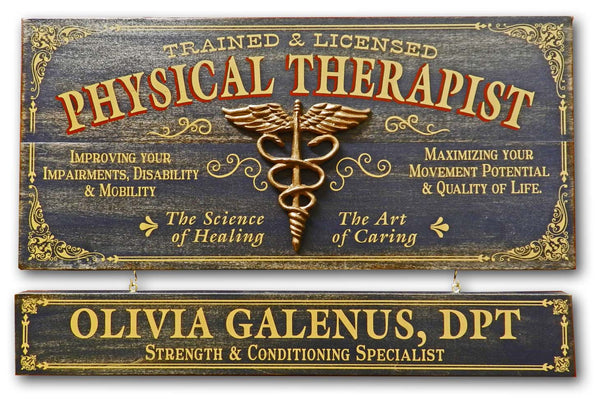Physical Therapist - Occupational Plank Signs