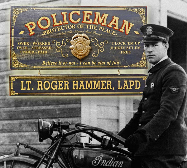 Policeman - Occupational Plank Signs
