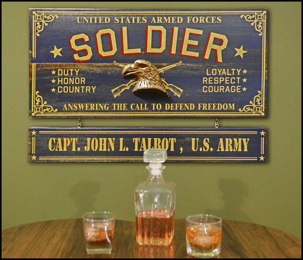 Soldier - Occupational Plank Signs
