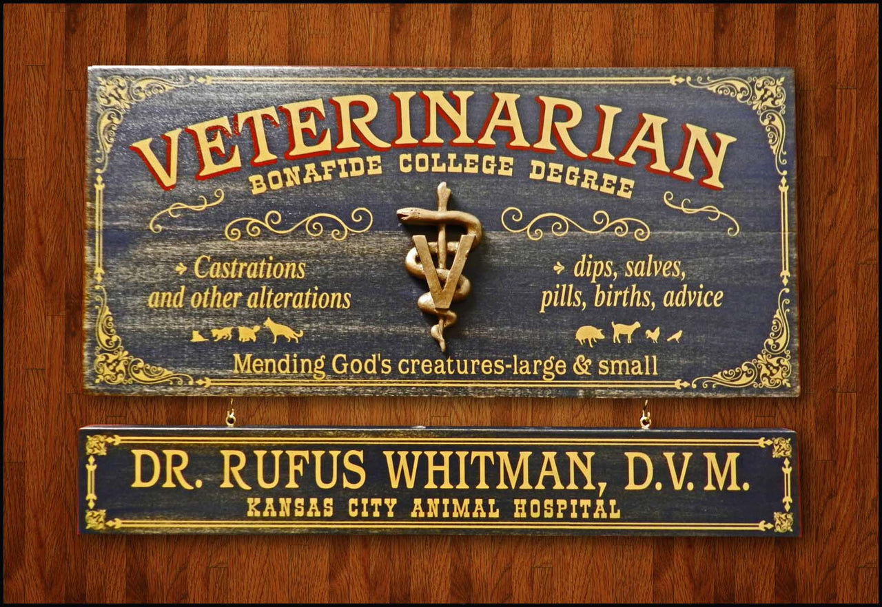 Veterinarian - Occupational Plank Signs