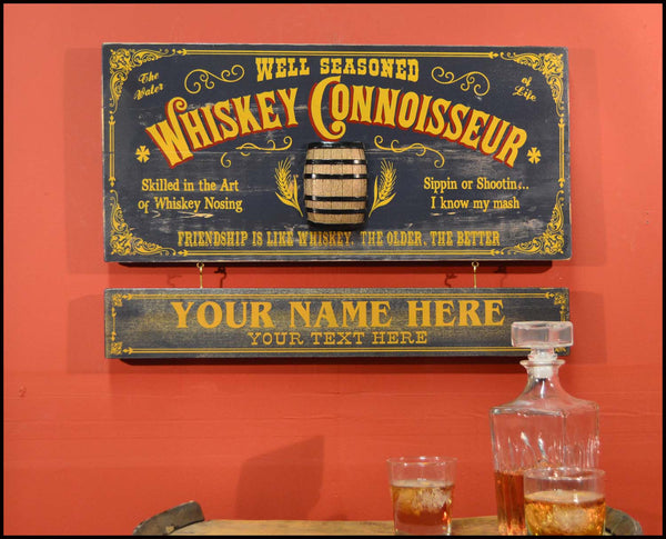Whiskey Connoisour - Occupational Plank Signs