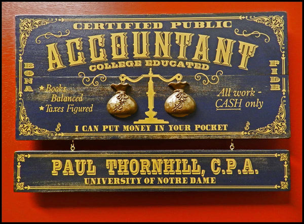 Accountant - Occupational Plank Signs
