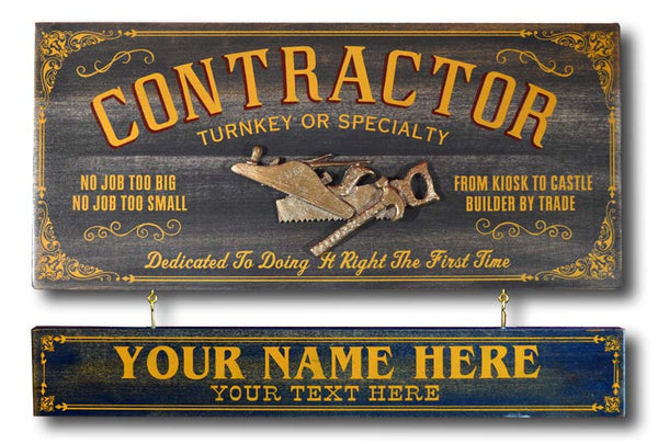 Contractor - Occupational Plank Signs