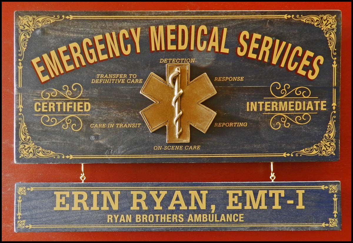 Ems - Occupational Plank Signs