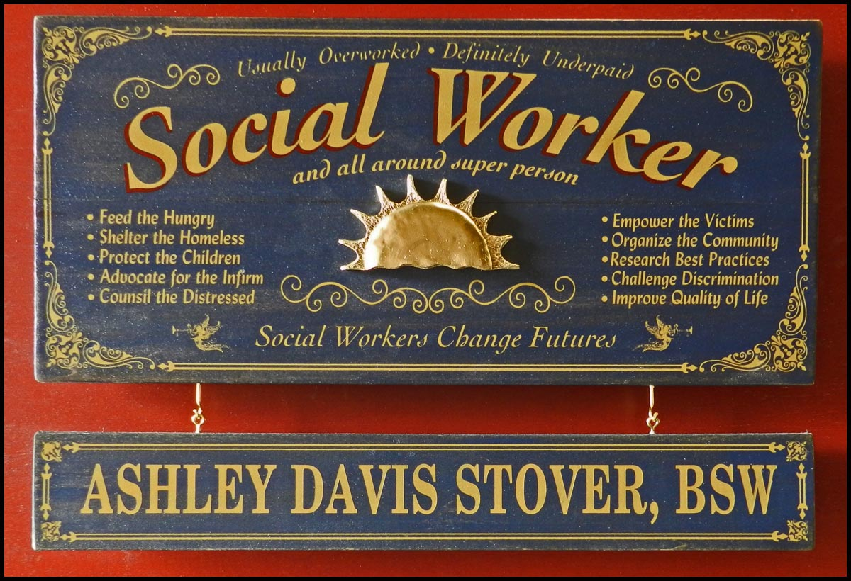 Social Worker - Occupational Plank Signs