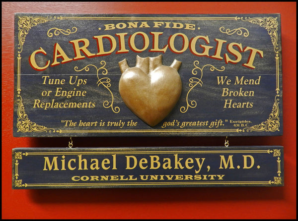 Cardiologist - Occupational Plank Signs