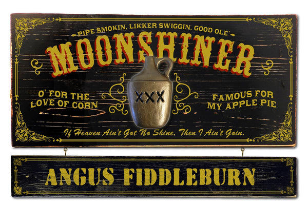 Moonshine - Occupational Plank Signs