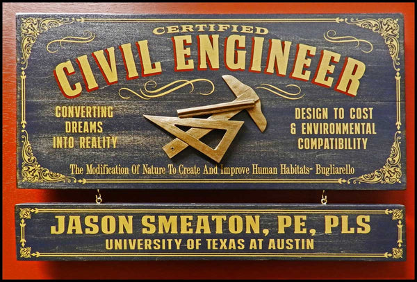 Civil Engineer - Occupational Plank Signs