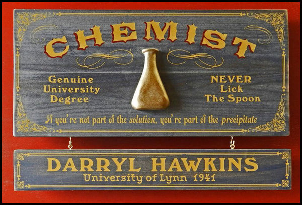 Chemist - Occupational Plank Signs