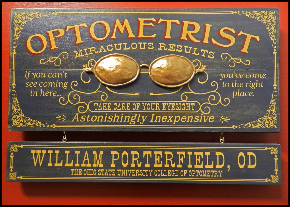 Optometrist - Occupational Plank Signs