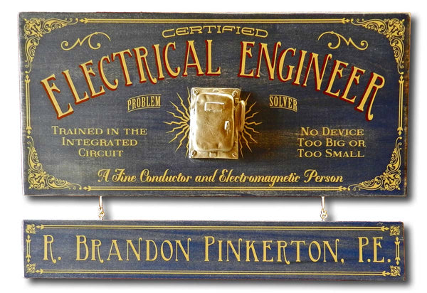 Electrical Engineer - Occupational Plank Signs