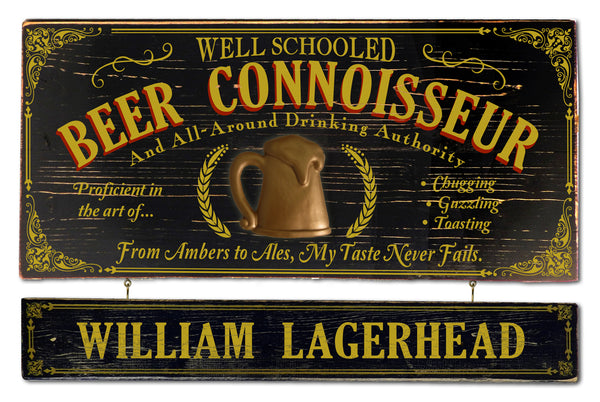 Beer Connoissour - Occupational Plank Signs