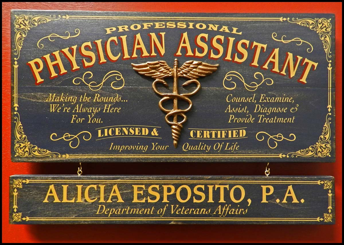 Physician Assistant - Occupational Plank Signs