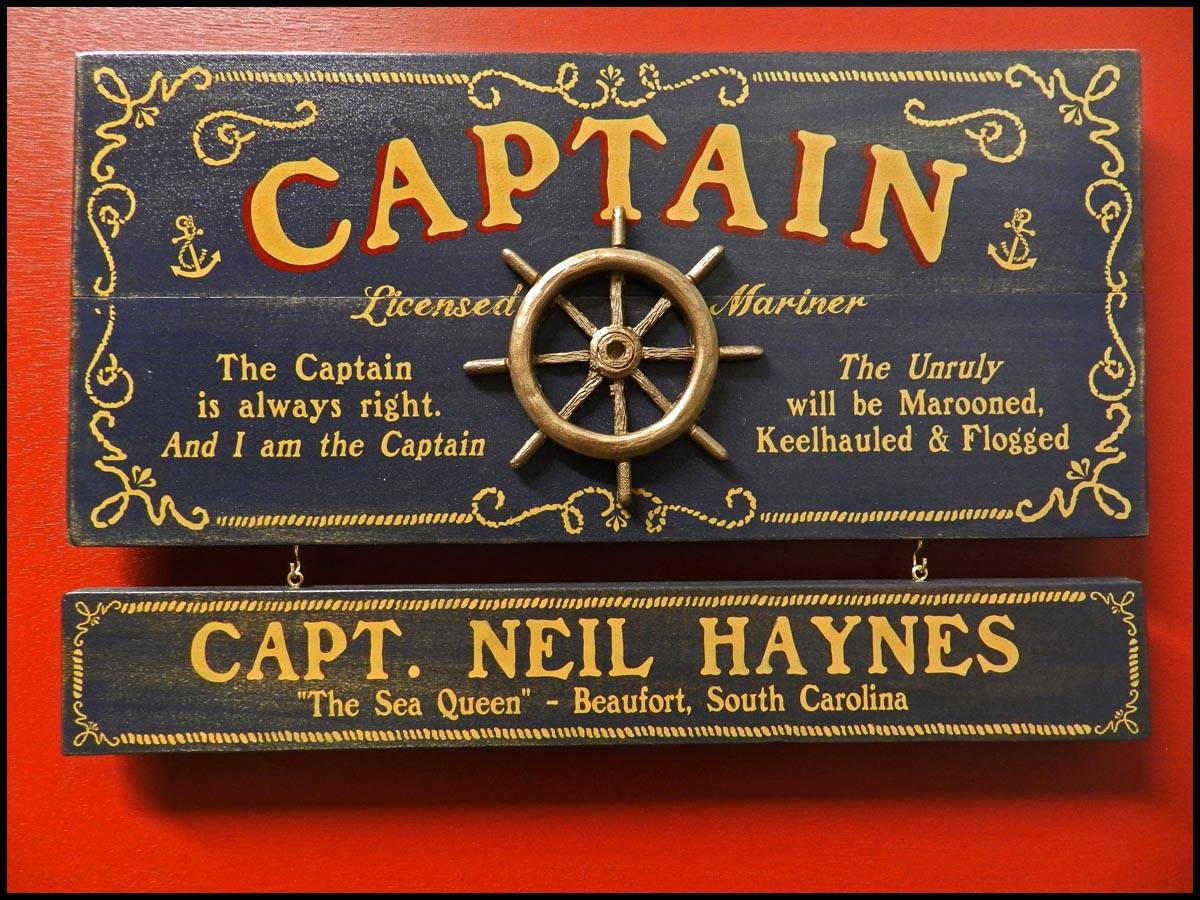 Captain - Occupational Plank Signs