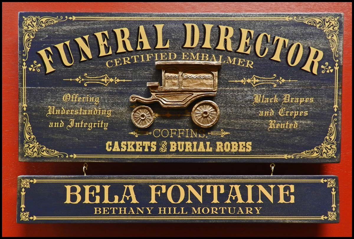 Funeral Director - Occupational Plank Signs