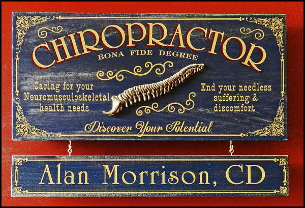 Chiropractor - Occupational Plank Signs