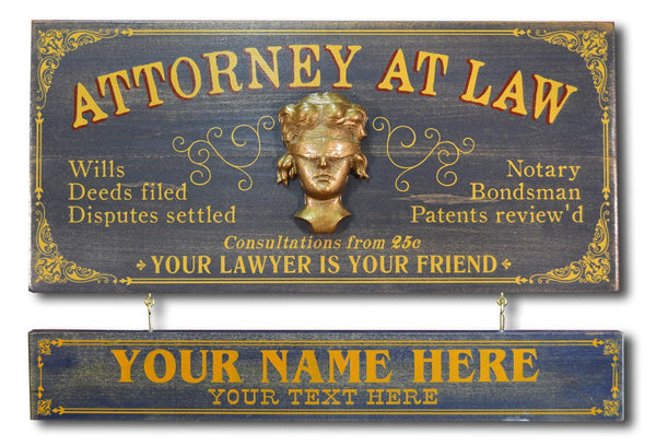 Attorney At Law - Occupational Plank Signs