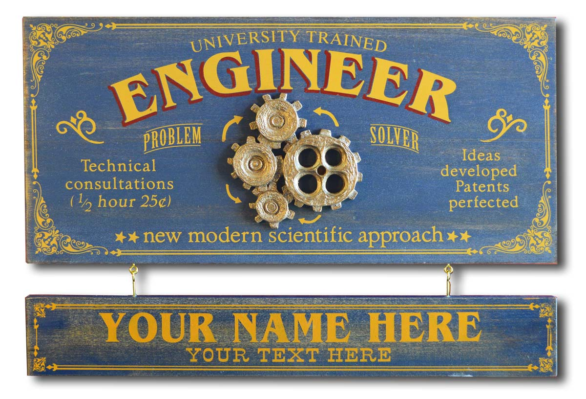 Engineer - Occupational Plank Signs