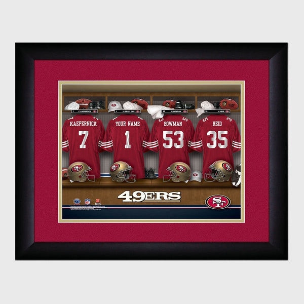 Personalized NFL Locker Room Print - San Francisco 49ers
