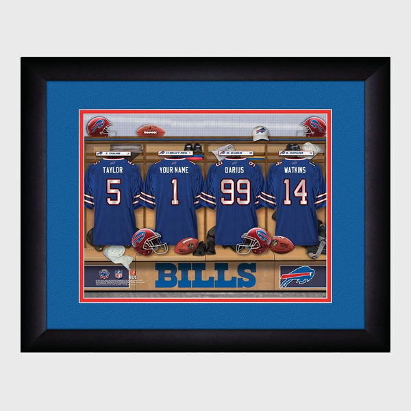 Personalized NFL Locker Room Print - Buffalo Bills