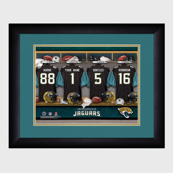Personalized NFL Locker Room Print - Jacksonville Jaguars