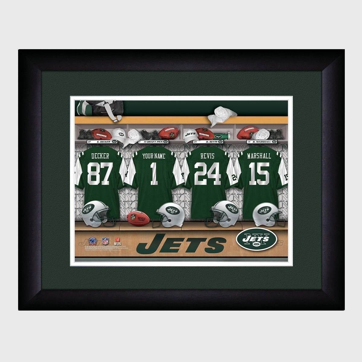 Personalized NFL Locker Room Print - New York Jets