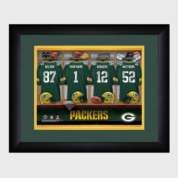 Personalized NFL Locker Sign w/Matted Frame - Packers