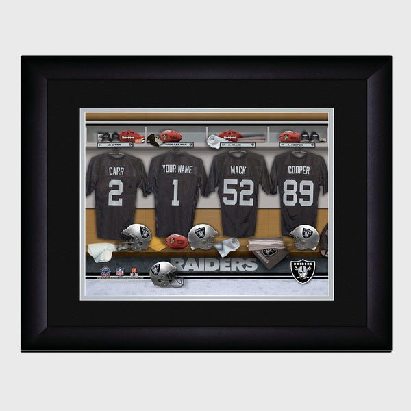 Personalized NFL Locker Room Print - Oakland Raiders