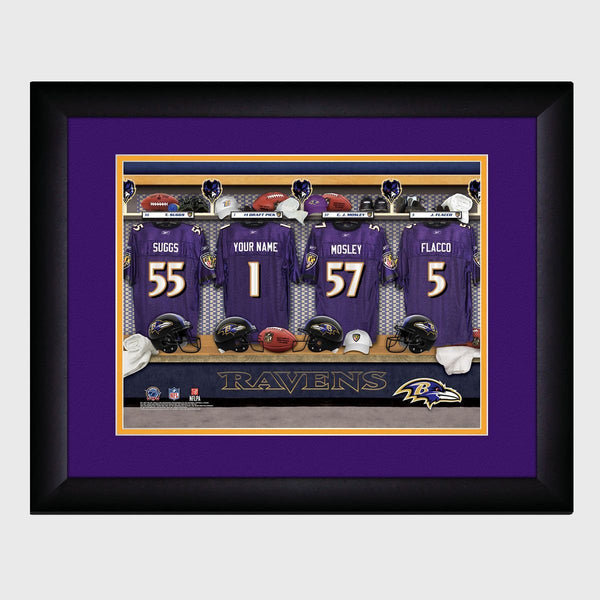 Personalized NFL Locker Room Print - Baltimore Ravens