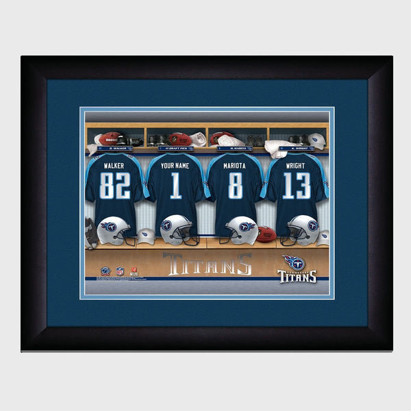 Personalized NFL Locker Room Print - Tennessee Titans