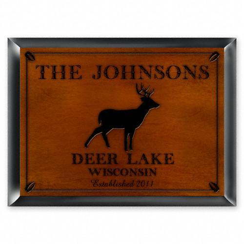 Stag Cabin Sign