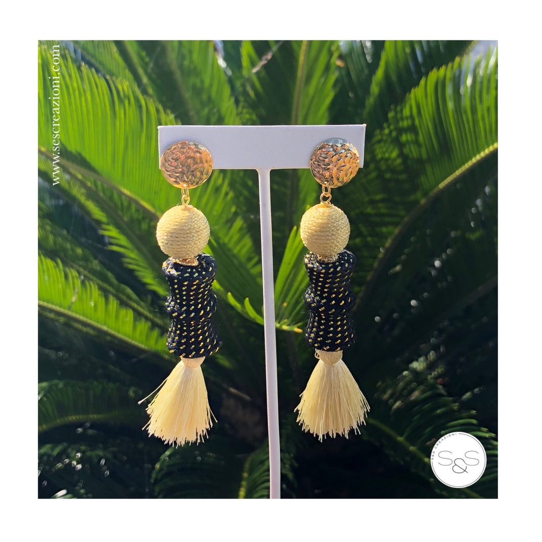 Tassel Nude Boho Earrings
