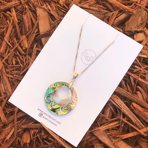 GIFT FOR HER  Abalone Pendant / Necklace 1