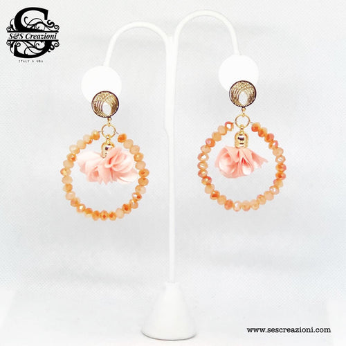 Flower Earrings Peach