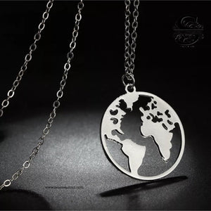 GIFT FOR HER World Map Pendant / Necklace 2