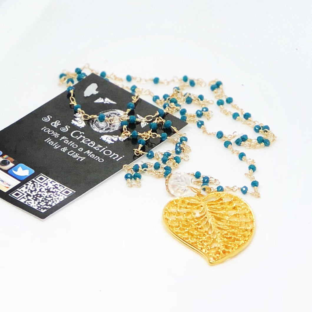 Teal Long Necklace