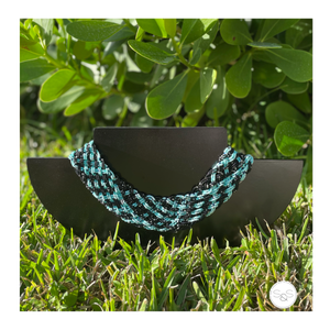 Aqua and Black Embera Inspiration Pectoral