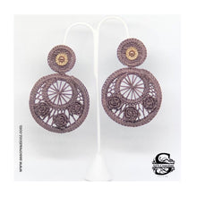 Iraca Palm Earrings Brown