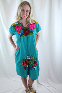 Teal/Multi Frida Dress
