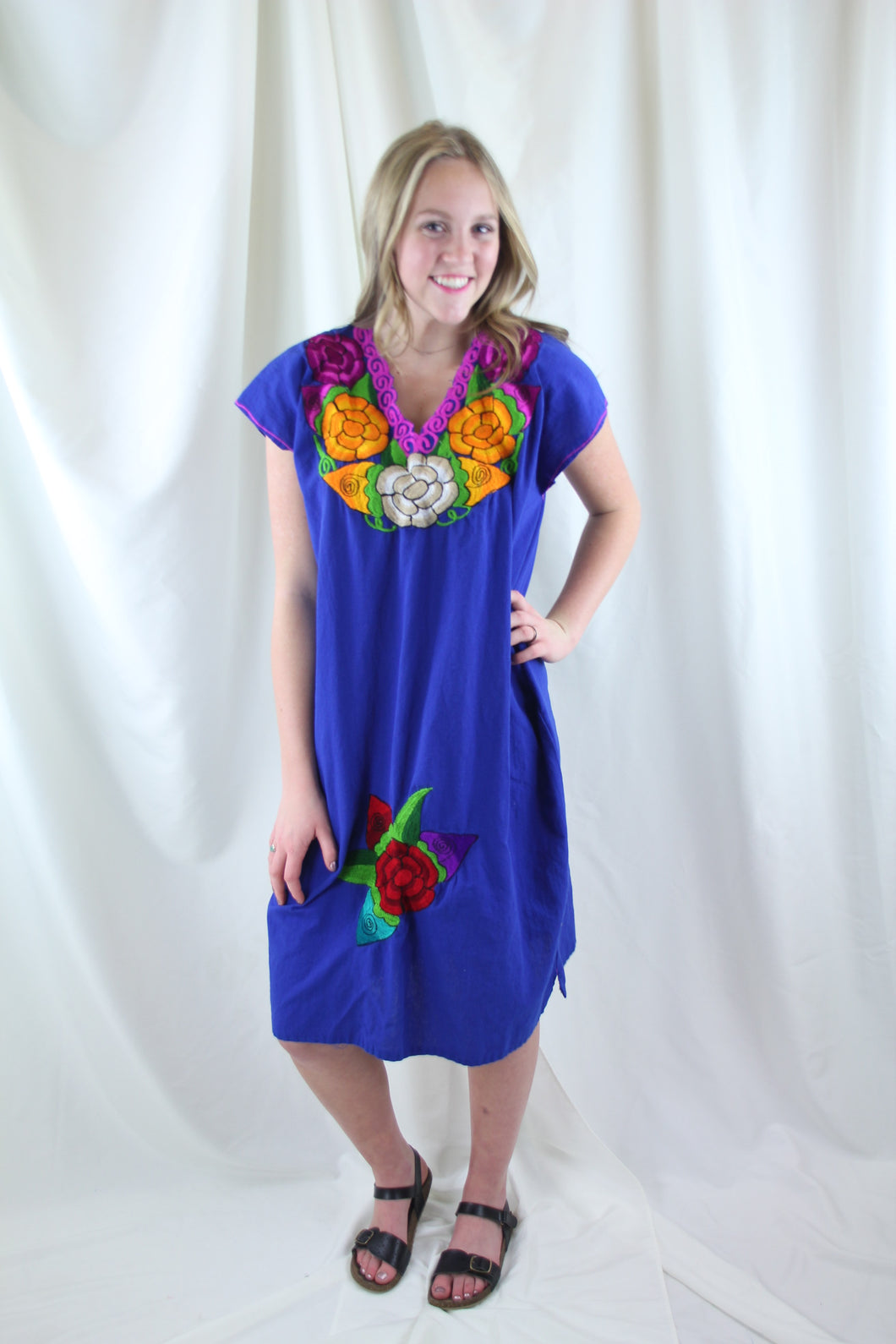 Blue/Multi Frida Dress
