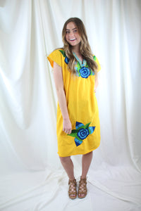 Yellow/Blue Frida Dress