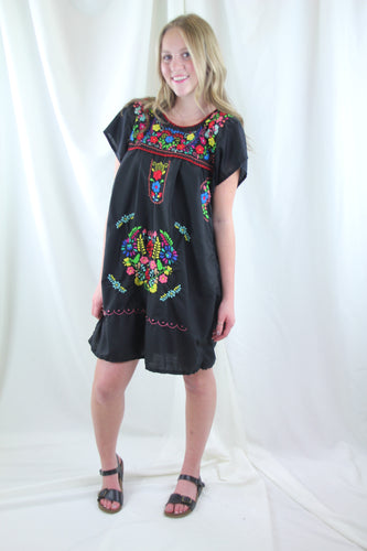 Black/Multi Mini Dress
