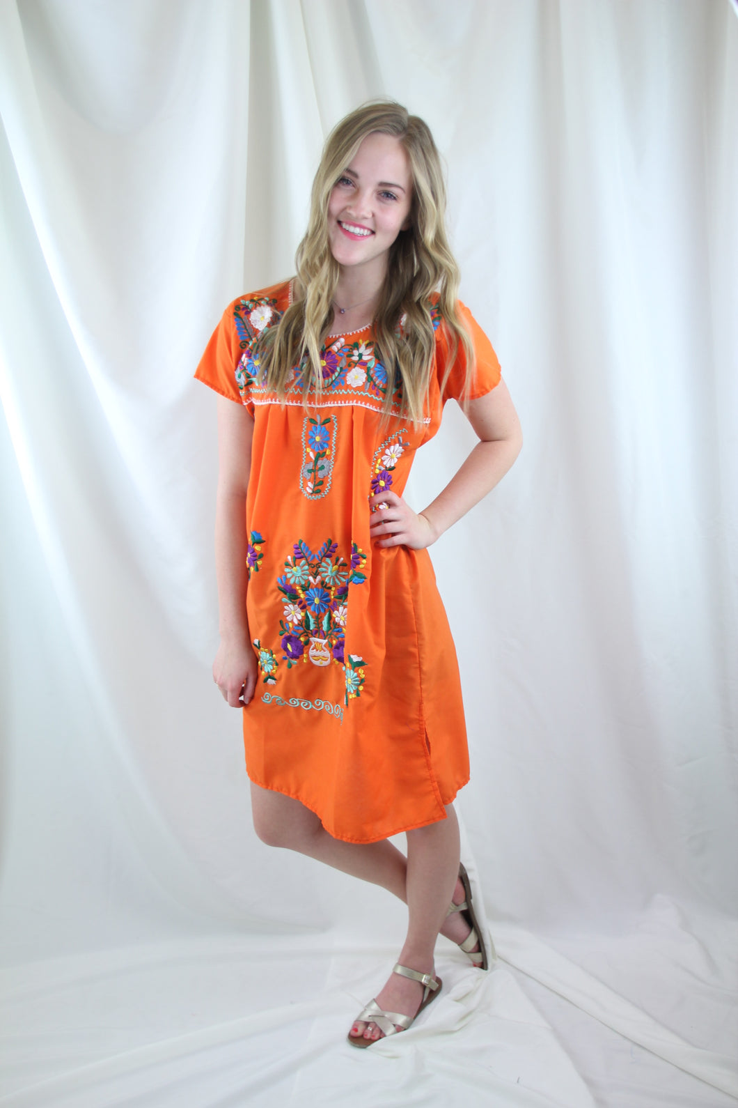 Orange/Multi Mini Dress